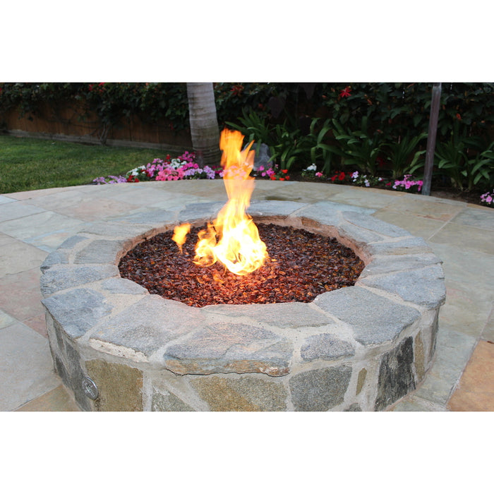 "VIVID Heat ""Amber"" 1/2"" - 3/4"" Large Gem Size - Tempered Fire Glass Rock for Fireplace & Fire Pit"