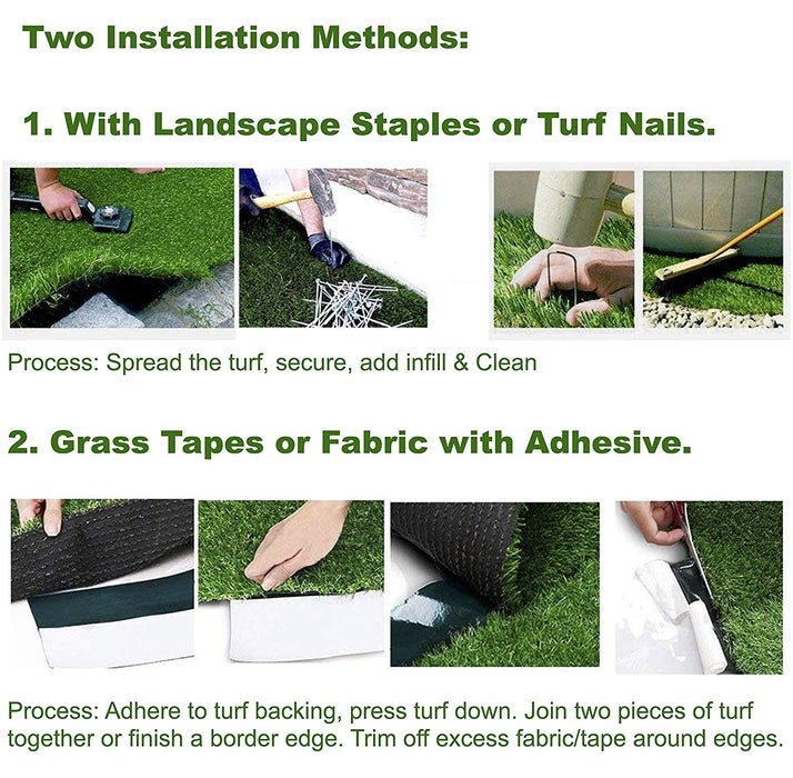 15 ft. x Your Length 80.64oz - Full Size Artificial Grass Turf Roll, (USA Made)- Large Synthetic Grass Lawn