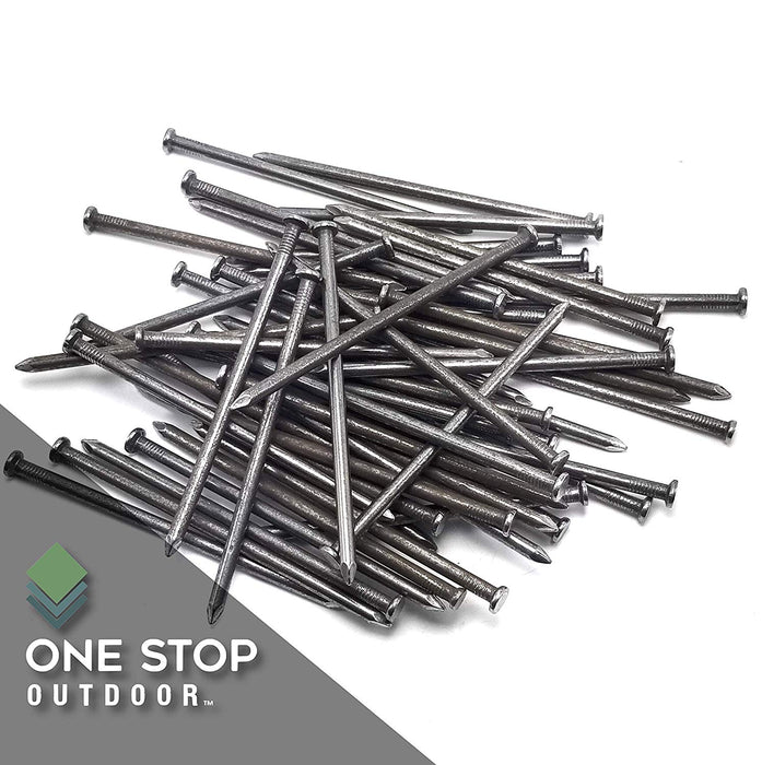 "USA MADE Synthetic Grass 6"" Stakes, (2.5lbs) Spikes, Artificial Turf Mat Nails - Approximately 25 Nails (Not Galvanized)"