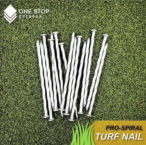 (150-Pack) Premium Spiral Galvanized Landscape Stakes Turf Nails, Edging, Timber & More