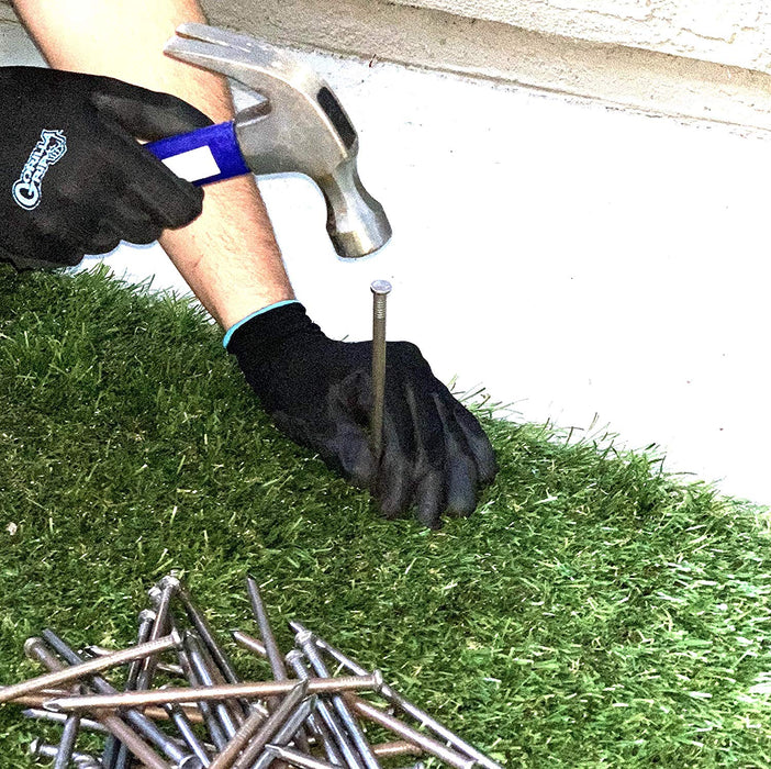 "USA MADE Synthetic Grass 6"" Stakes, (5lbs) Spikes, Artificial Turf Mat Nails - Approximately 50 Nails (Not Galvanized)"