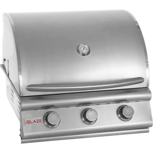 Blaze 25 Inch 3-Burner Grill, Traditional Series Stainless Steel Gas BBQ