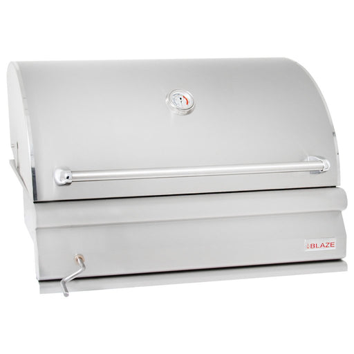 "Blaze 32"" Inch Pro Grade Stainless Steel Charcoal Built In BBQ Grill"