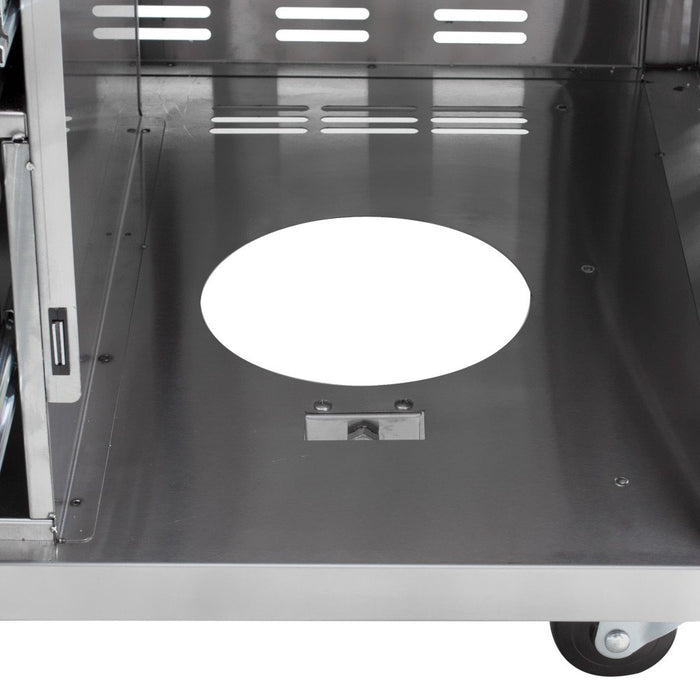 Blaze 30-Inch Gas Griddle On Deluxe Cart