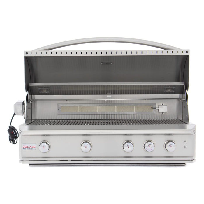 Blaze Professional 44-Inch 4 Burner Built-In Gas Grill With Rear Infrared Burner & Lights