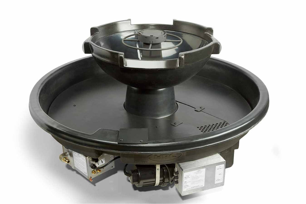 HPC Hearth H2Onfire 360 - Black Fire Water Insert, Fire Pit & Waterfall Bowl w/ Electronic Ignition