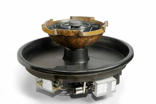 HPC Hearth H2Onfire 360 - Sienna Fire & Water Insert Fire Pit & Waterfall Bowl & Electronic Ignition