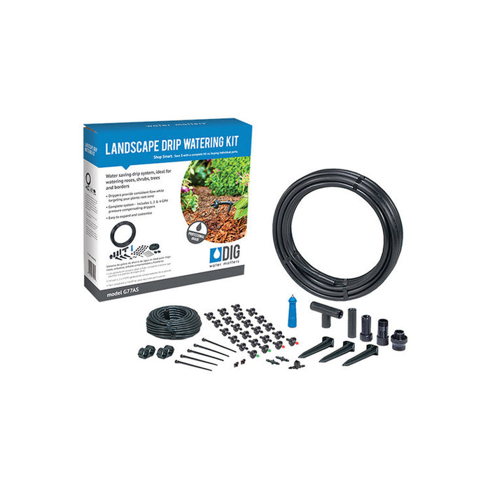 DIG G77AS - Landscape Drip Irrigation Kit (24 Plants)