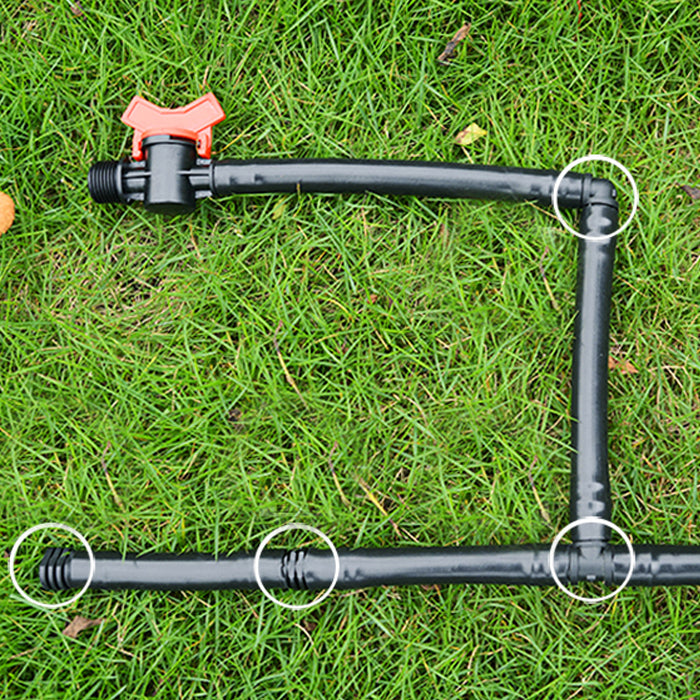 "1/2"" Inch Barbed Shut Off Valve, Drip Tubing, Water Line - 16mm"