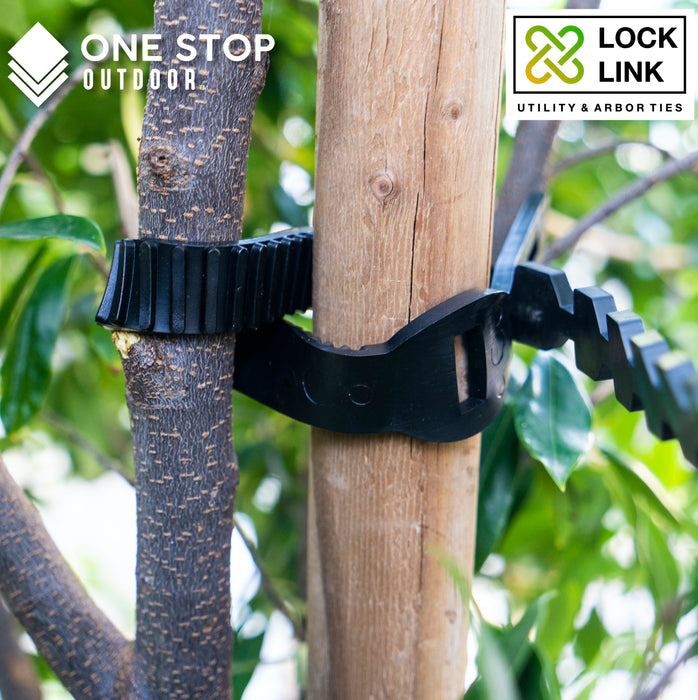 "Lock Link - 23.6"" Inch Heavy Duty Flexible Rubber Tree and Plant Ties"
