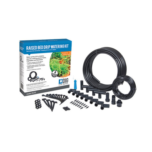DIG ML50 - Raised Bed Drip Irrigation Kit (10 Plant Rows)