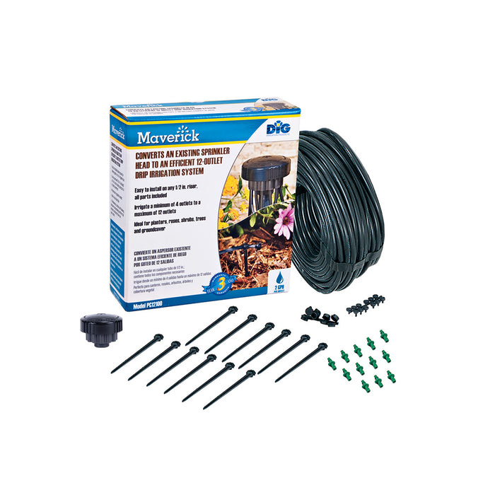 DIG PC12100 - 12-Outlet Drip Manifold Kit – 2 GPH (12 Plants)