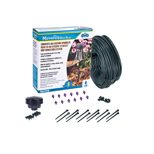 DIG PC14100 - 12-Outlet Drip Bubbler Manifold Irrigation Kit High Flow – 4 GPH