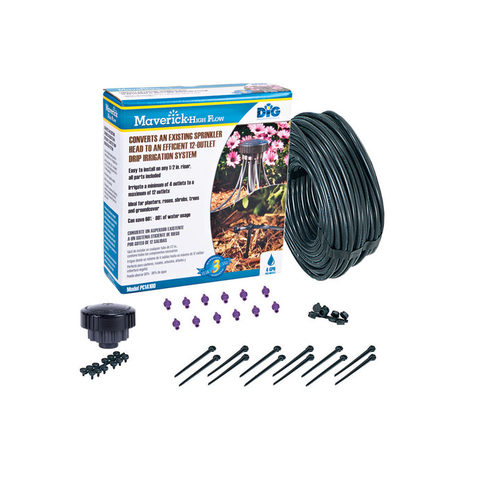 Dig Maverick 4 GPH 12-Zone High Flow Sprinkler Conversion Kit -PC14100
