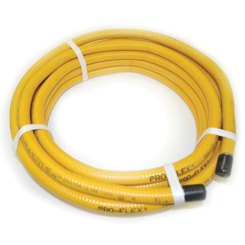 "75'ft Pro Flex Yellow Gas Line Pipe 1/2"" - CSA Certified for Fire Pit"