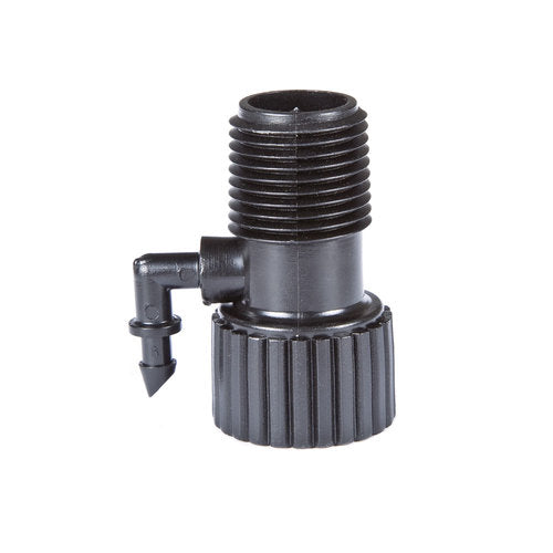 "Drip Irrigation Riser Adapter Drip and Sprinkler Watering, 1/2"" Female Pipe Thread x 1/2"" Male Pipe Thread x 1/4"" Barbed End"