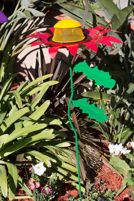 Giant Red Zinnia Bird Feeder - Ultimate Innovations