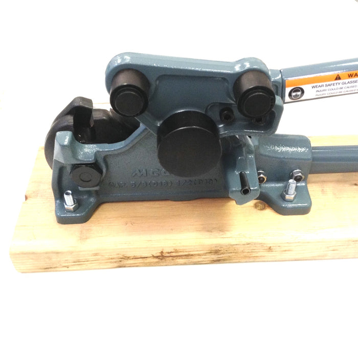 "MCC SCB-16B - 1/2"" #4 - 5/8"" #5 Rebar Cutter & Bender with Board (30% Less Cut Effort) Bending diameter 2 1/2"", can bend 90 degree to 180 degree."
