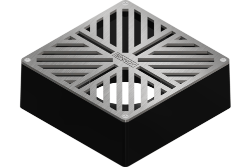 "Sinnov Premium Universal Paver Drain Grate Fits 3 & 4"" Inch Pipe - Stainless Steel"