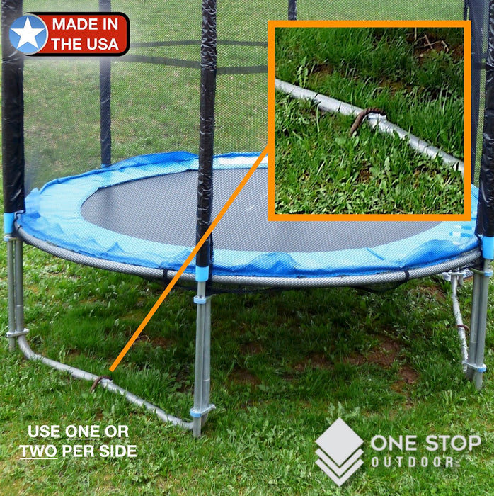 USA Made - #3 Rebar U Heavy Duty Trampoline Wind Stakes