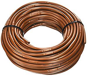 "DIG 9"" Spacing Micro-Line Soaker Hose .52gph - Brown Drip Irrigation Tubing 100'-3000ft'"