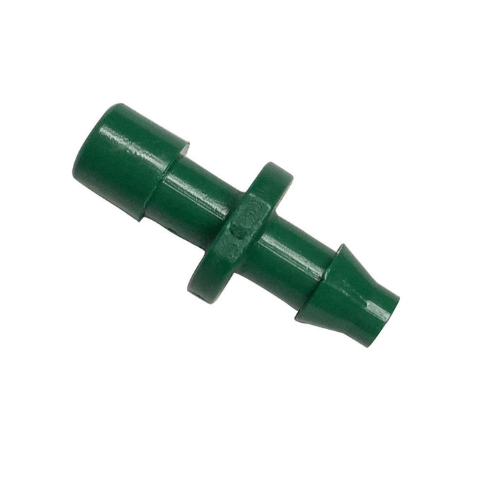 "(100 PACK) - 1/4"" Drip Irrigation Manifold Barb Adapter - 1/4 Inch Tubing Connector"