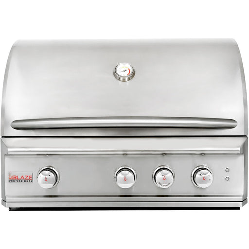 Blaze Professional 34-Inch 3 Burner Built-In Gas Grill With Rear Infrared Burner & Lights