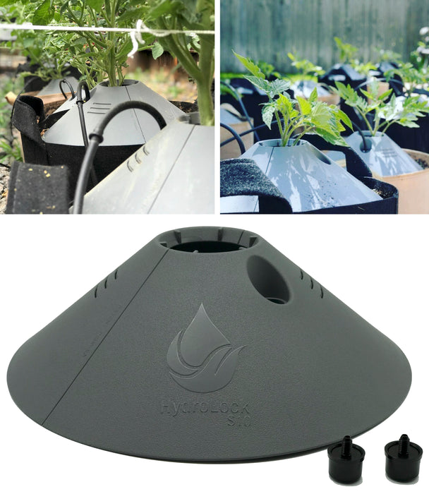 HydroLock Water Distributing Root Boosting Plant Cap Kit - Includes 6GPH Drip Emitters