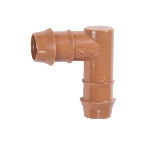"DIG - 15-042 - 1/2"" Barb Insert Elbow (Black or Brown) (25 Pack)"