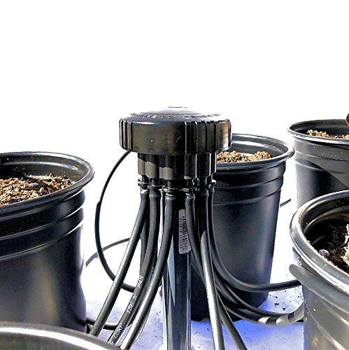 1 GPH Drip Kit 12 Plant - 12 Outlet PC Irrigation Bubbler Manifold, Tubing & More