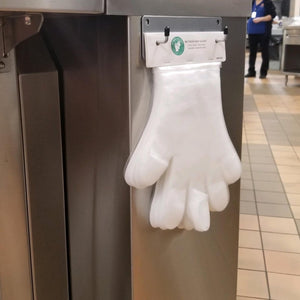 Single Wall Mount Glove Dispenser - Metal (020008)