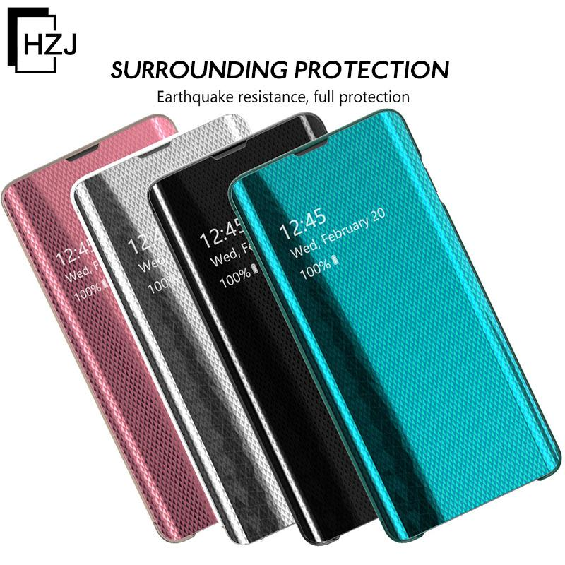 Luxury upgrade  electroplated mirror smart flip phone case for  HUAWEI Mate20/20Pro/Lite/HUAWEI P30/P30Pro/P30Lite