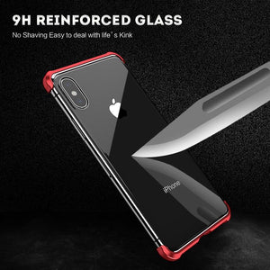 Luxury Protective Borderless magnetic double sided glass phone case for IPHONE 7 8 PLUS X XS MAX XR