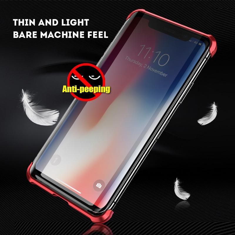 Luxury  Protective Borderless magnetic double sided glass Anti-peeping phone case for IPHONE 7 8 PLUS X XS MAX XR