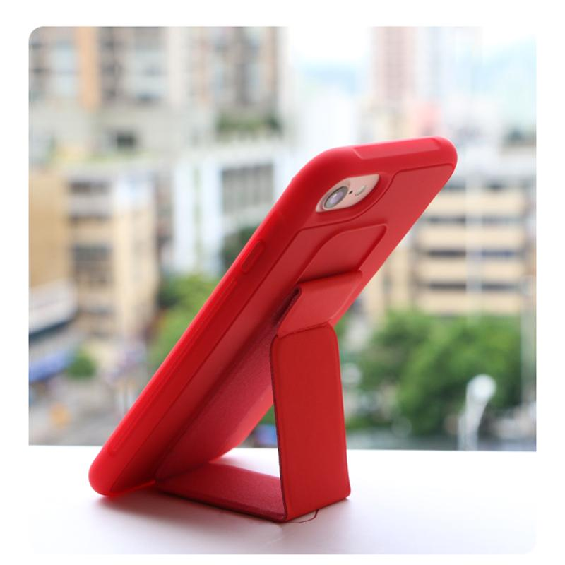 Luxury original liquid silicone bracket candy color mobile phone case for iPhone 6 6S 7 8 PLUS X XS MAX XR