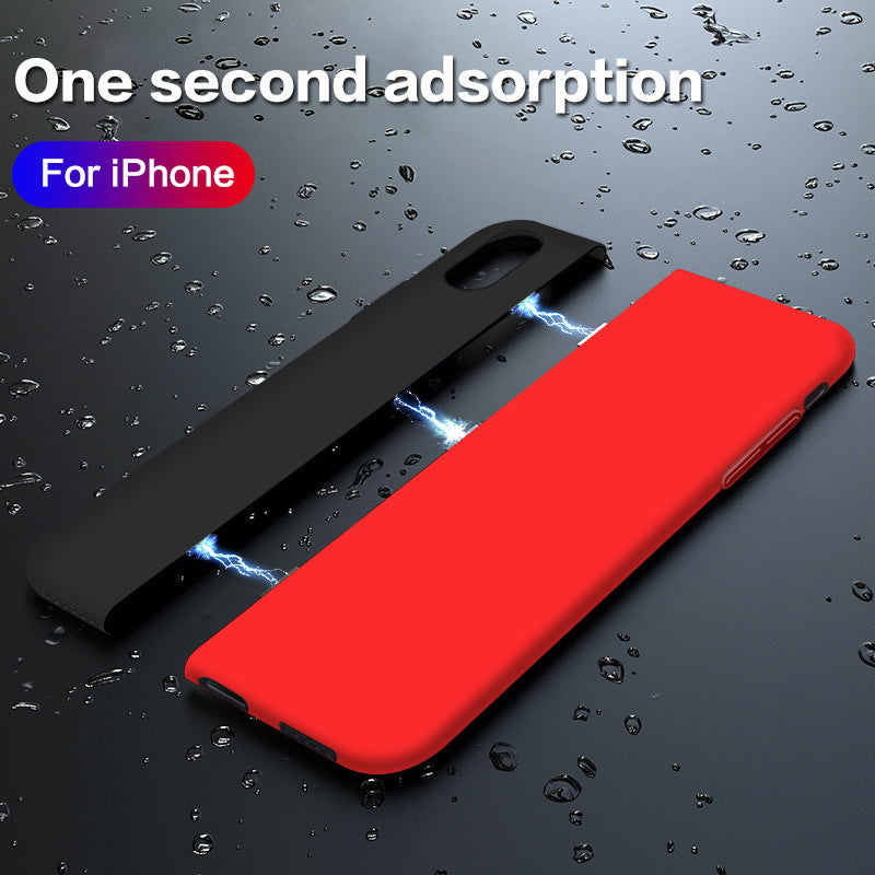 Magnetic splicing contrast separation liquid silicone mobile phone case for iphone 6 6S 7 8 PLUS X XS MAX XR
