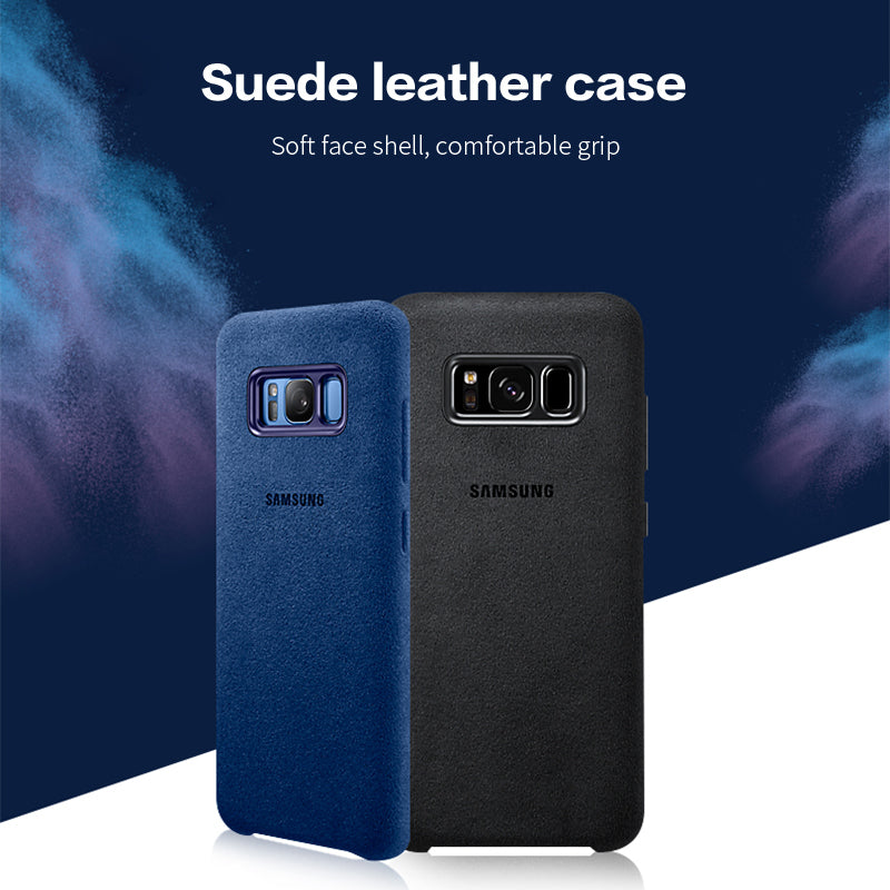 Luxury Suede Leather Fur Cover Case For Samsung Galaxy S7 Edge S8 S9 S10 Plus Note 8 9