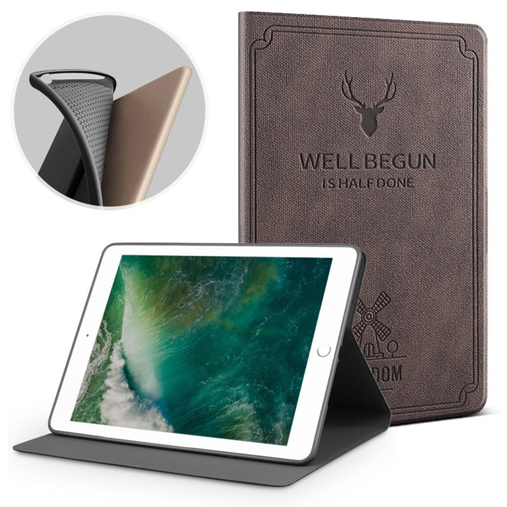 Auto Sleep Smart Cover Deer Pattern PU Leather Soft silicone Case  For New iPad 9.7 inch 2017 2018 Air 1 2 iPad mini 1/2/3/4/5 iPad 2/3/4 iPad pro 11inch