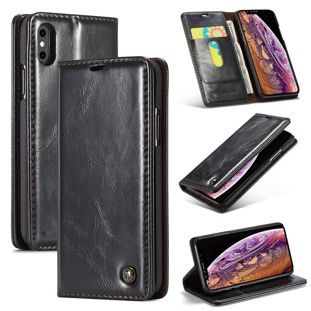 CaseMe  Magnetic Flip Wallet Stand Case For iPhone 6 6S 7 8 X XS MAX XR