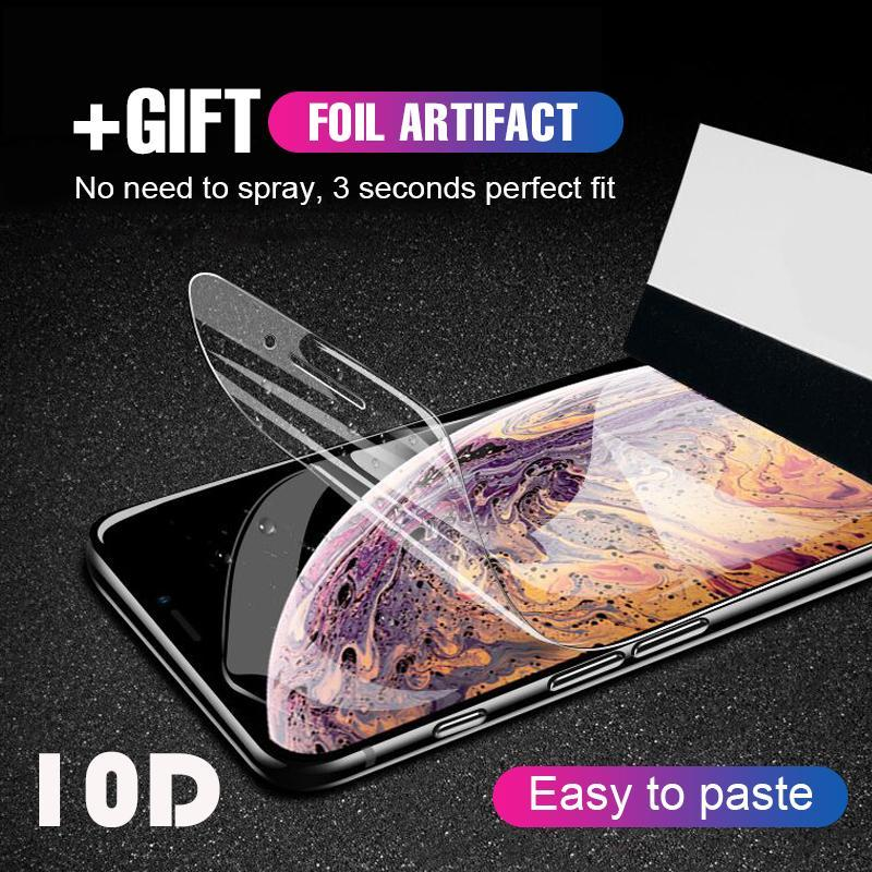 10D Full Cover Hydrogel Film For iPhone 6/6s/6PLUS/6SPLUS/7/8/7PLUS/8PLUS/X/XS/XR/XS MAX (With Locator Not Tempered Glass )