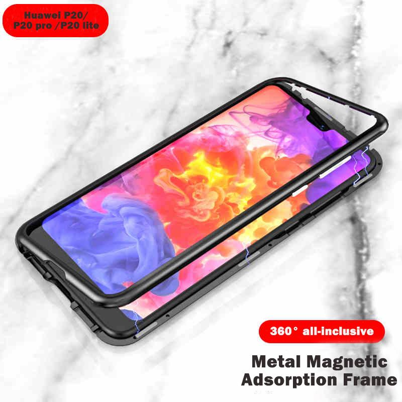 Magnetic Adsorption Metal Case for Huawei P20 P20 pro P20 lite