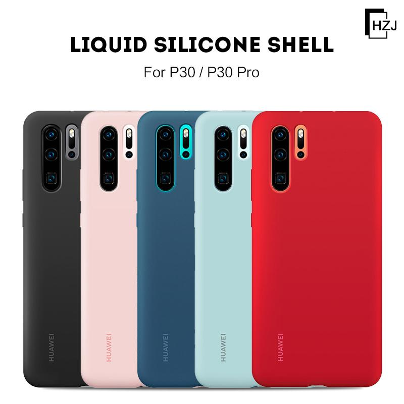 Luxury Original Official Liquid Silicone LOGO Case For Huawei P10/PLUS P20/PRO/LITE P30/PRO/LITE