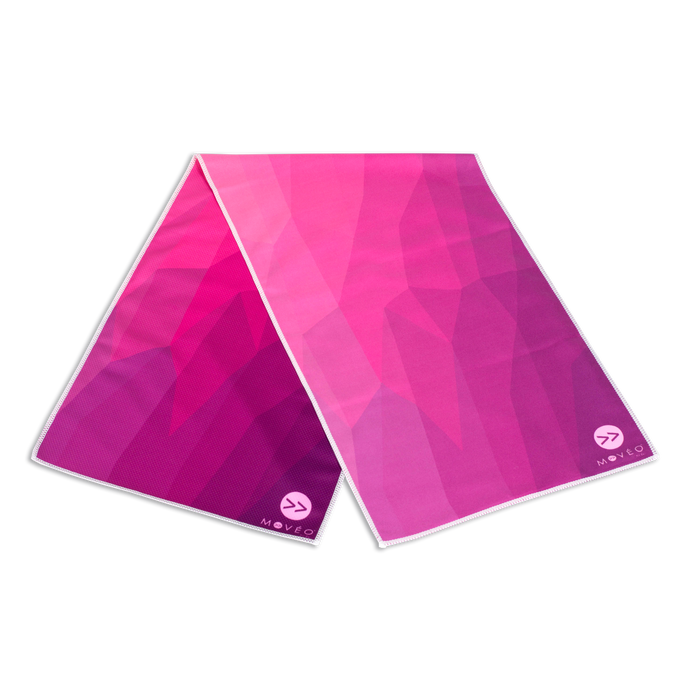 Pink Geo Dual Sided Cooling Towel - Movéo Fit Co