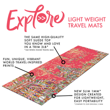 Load image into Gallery viewer, Travel Mat- Stop, Drop, Meditate Premium Exercise Mat