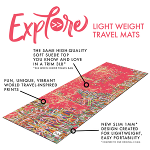 Travel Mat- Stop, Drop, Meditate Premium Exercise Mat