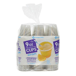 Member's Mark Clear Plastic Cups (9 oz., 264 ct.)