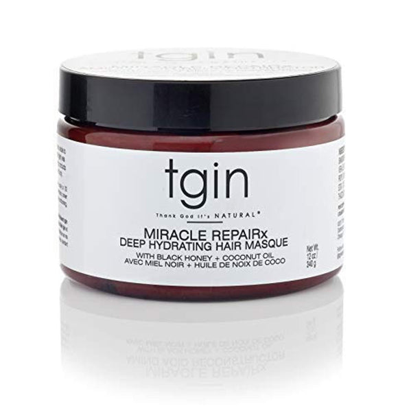 tgin Miracle Repairx Deep Hydrating Hair Masque For Natural Hair - Dry Hair - Curly Hair - 12 Oz