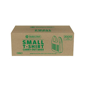 Member's Mark Small T-Shirt Carry-Out Bags (2,000 ct.)