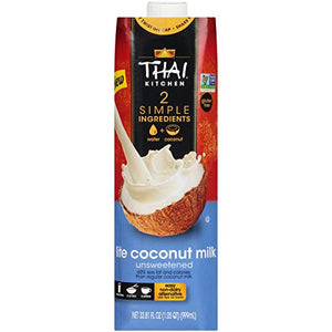 Thai Kitchen Dairy Free Lite Coconut Milk (Resealable, Just Coconuts & Water, BPA Free Packaging, Unsweetened), 33.81 fl oz (Pack of 6)
