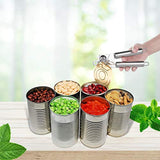 Kebley Stainless Steel Can Opener Manual Food-safe Good Gripswith Built-in Bottle Opener